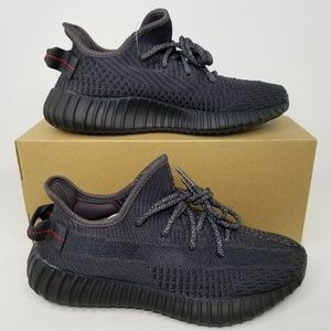 adidas Yeezy Boost 350 V2 Shoes Triple Black 7 NR